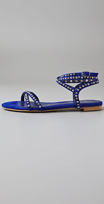 Jeffrey Campbell Roman 2 Studded Suede Sandals
