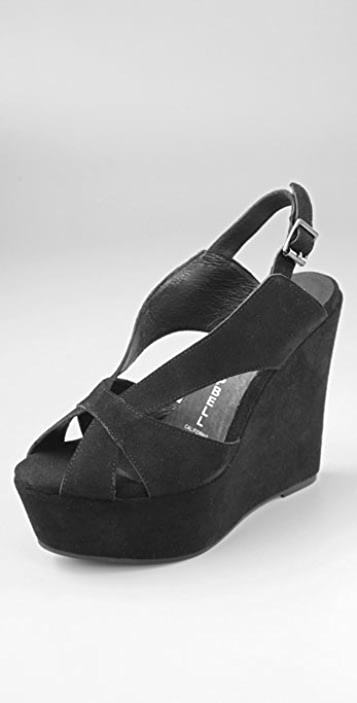 Jeffrey Campbell Mariel Suede Wedge Sandals