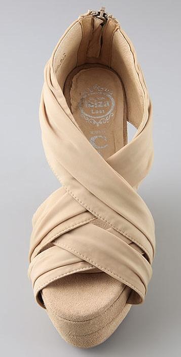 Jeffrey Campbell Take Draped Wedge Sandals