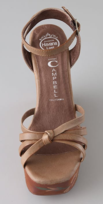 Jeffrey Campbell Magdalina Painted Flower Sandals