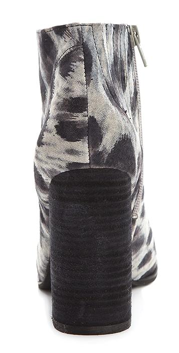 Jeffrey Campbell Hanger Suede Snow Leopard Print Booties