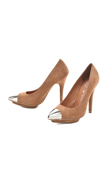 Jeffrey Campbell Bullet Cap Toe Pumps