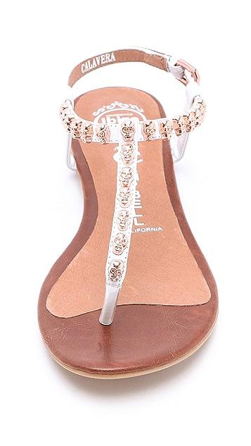Jeffrey Campbell Calavera Skull Studded Sandals