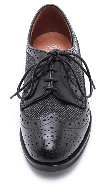 Jeffrey Campbell Townsend Tweed Oxfords