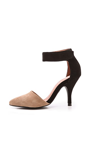 Jeffrey Campbell Soltair Suede Ankle Strap Pumps