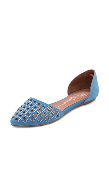 Jeffrey Campbell In Love Studded d'Orsay Flats