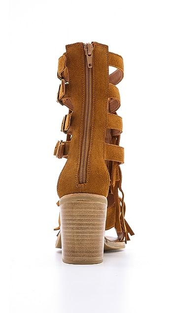 Jeffrey Campbell Omaha Fringe Sandals