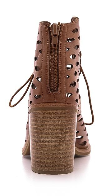 Jeffrey Campbell Cors Laser Cut Laced Sandals