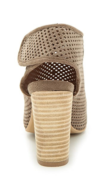 Jeffrey Campbell Quebec Perforated Suede Booties
