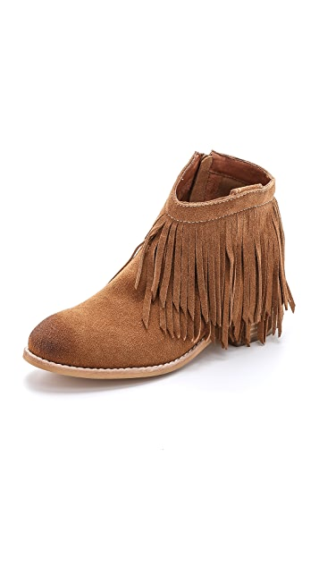 Jeffrey Campbell Chaffee Suede Fringe Booties