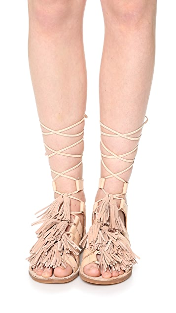 Jeffrey Campbell Malang Fringe Sandals