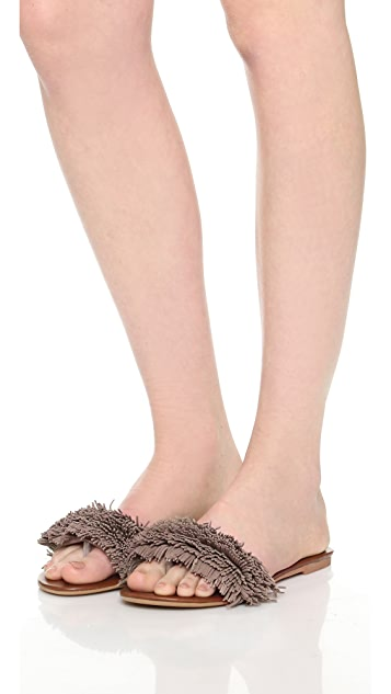 Jeffrey Campbell Koshi Suede Slide Sandals