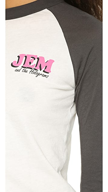 Jem and the Holograms Wildfox Battle of the Bands Raglan Tee