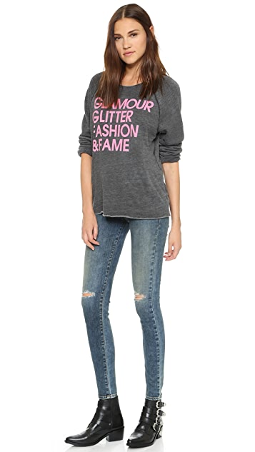 Jem and the Holograms Wildfox The List Morning Sweatshirt