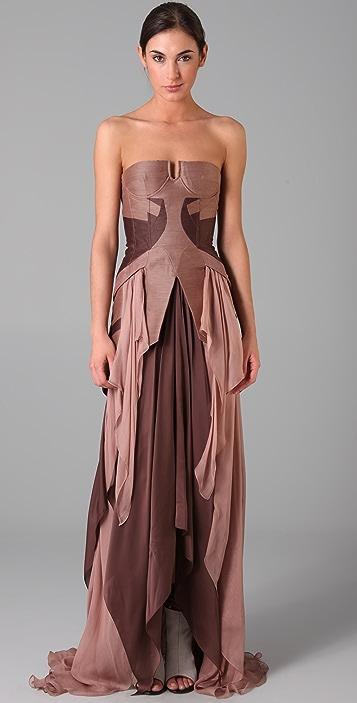 Jen Kao Tzigane Bustier Gown