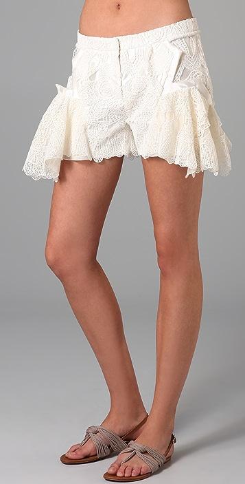 Jen Kao Mirage Peplum Shorts
