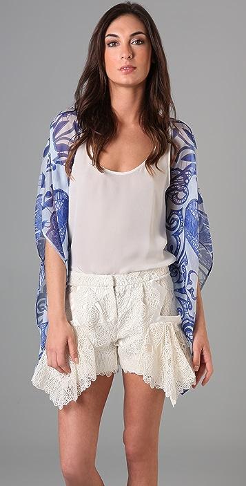 Jen Kao Desert Grazer Kimono Shrug