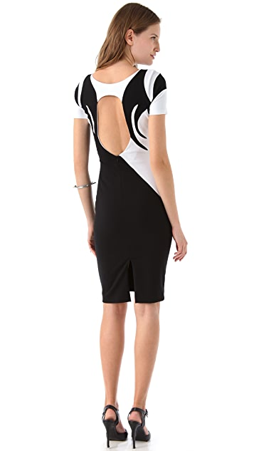 Jen Kao Yin Yang Body Con Dress