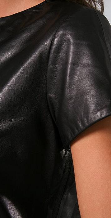 Jenni Kayne Leather T Shirt