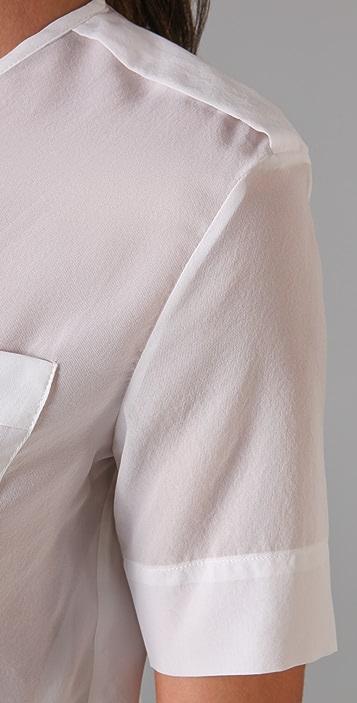 Jenni Kayne Short Sleeve Epaulet Blouse