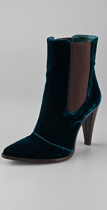 Jenni Kayne High Heel Velvet Booties