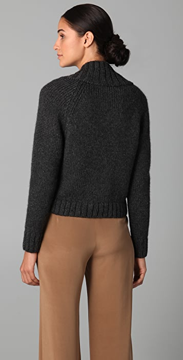 Jenni Kayne V Neck Cropped Sweater