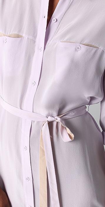 Jenni Kayne Shirtdress with Contrast Belt