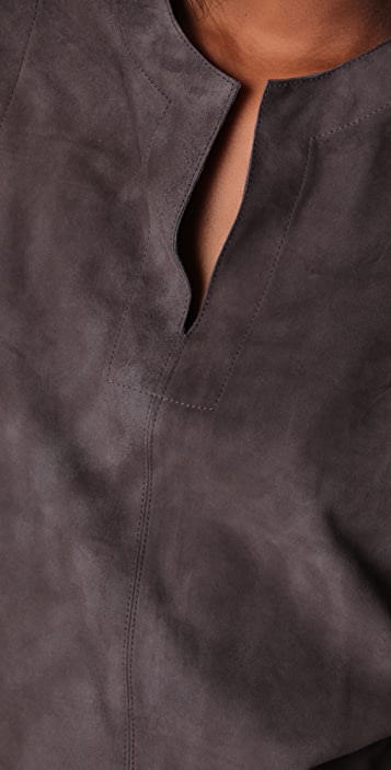 Jenni Kayne V Neck Suede Dress