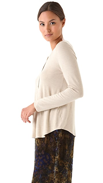 Jenni Kayne Long Sleeve Henley Top