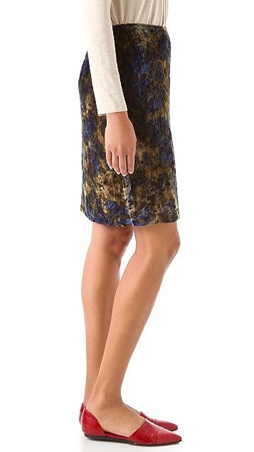Jenni Kayne Straight Velvet Skirt