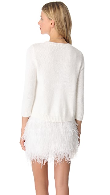Jenni Kayne Crop Crewneck Sweater
