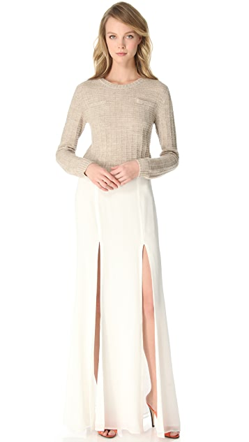 Jenni Kayne Cropped Crew Neck Sweater