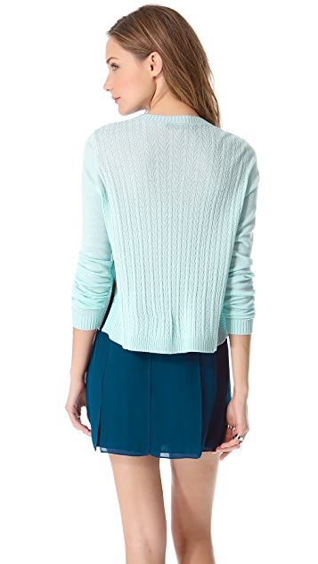 Jenni Kayne Cross Knit Crew Neck Sweater