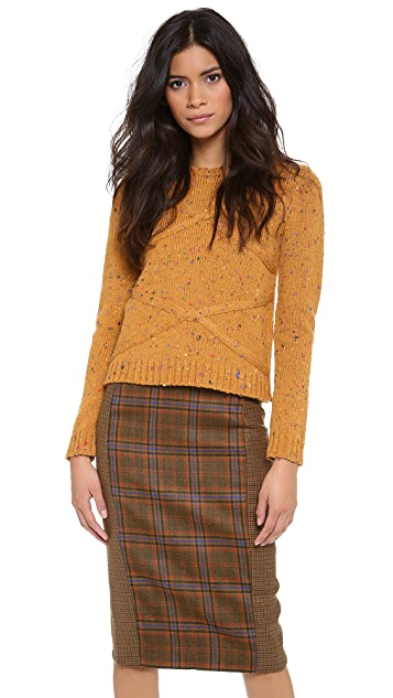 Jenni Kayne Cable Crew Neck Sweater
