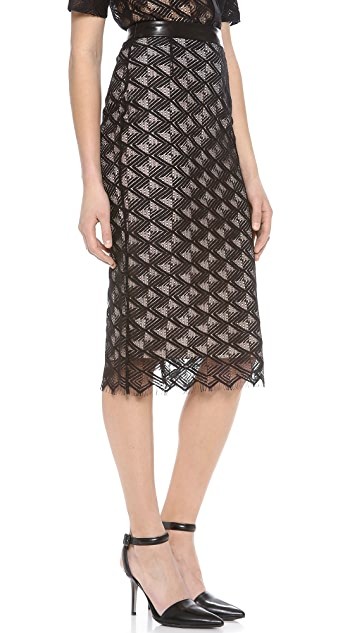 Jenni Kayne Lace Pencil Skirt