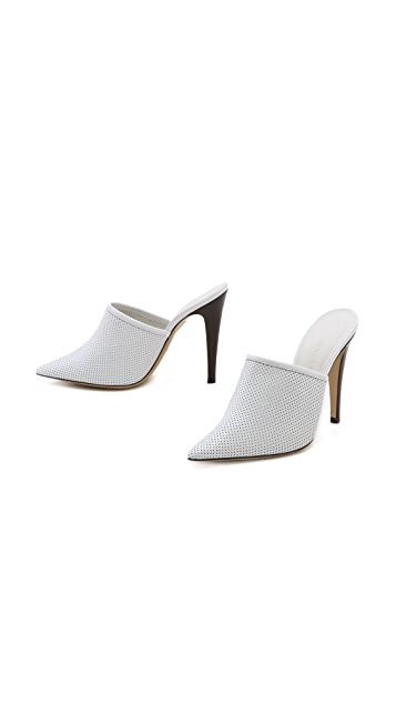 Jenni Kayne Perforated Pointed Toe Mules