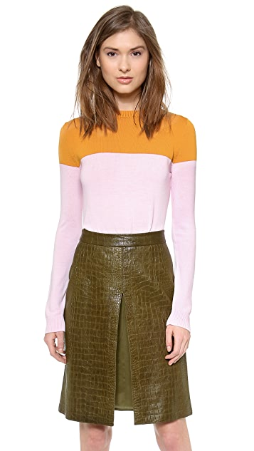 Jenni Kayne Sid Slit Crew Neck Sweater