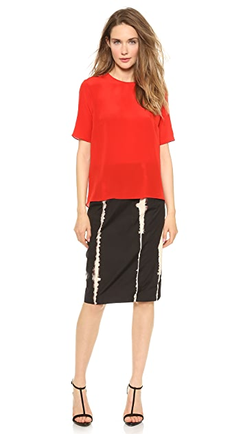 Jenni Kayne Short Sleeve Slit Back Top