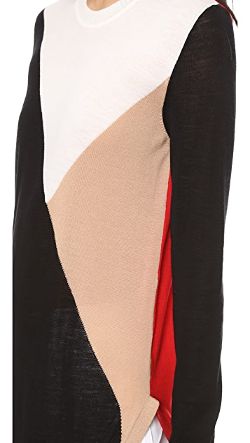 Jenni Kayne Colorbock Long Sleeve Sweater