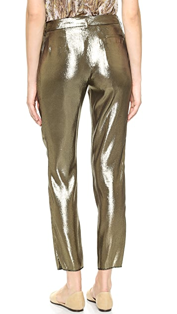 Jenni Kayne Pleated Metallic Pants