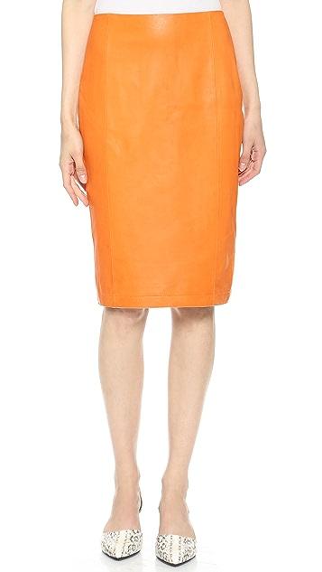 Jenni Kayne Cut Away Leather Skirt