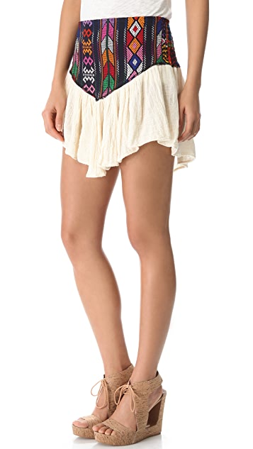 Jen's Pirate Booty Guipil Asteria Mini Skirt