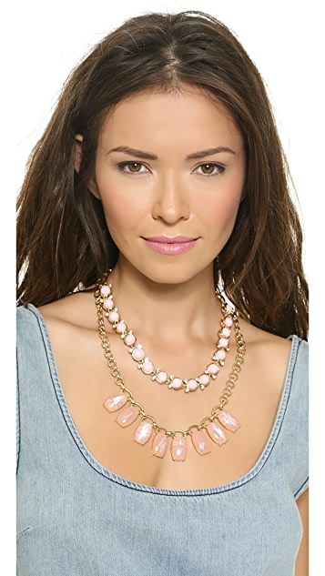 Lee By Lee Angel Layered Stone Necklace Set