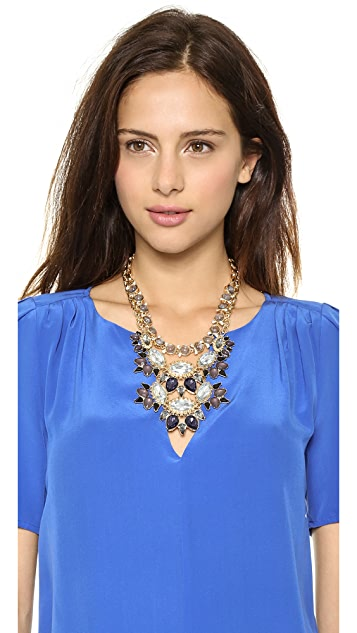 Lee By Lee Angel Crystal Statement Necklace Set