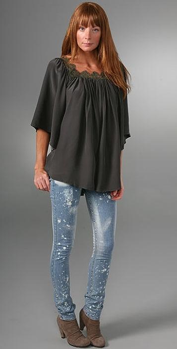 JET Jeans Splatter Skinny Jeans