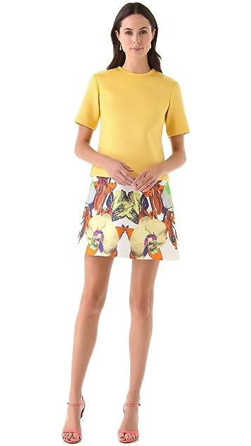 Josh Goot Flower Brocade A Line Skirt