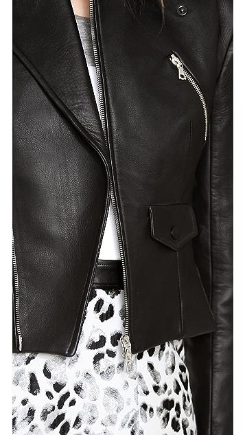 Josh Goot Leather Biker Jacket