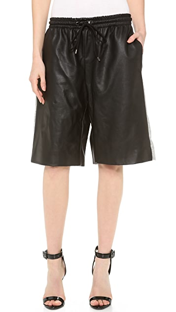 Josh Goot Leather Basketball Shorts