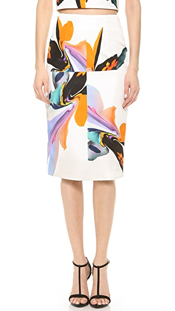 Josh Goot Orchid Pencil Skirt
