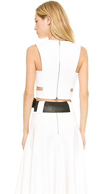 Josh Goot Cutout Harness Crop Top